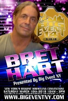 BIG EVENT 14 BRET HART AUTOGRAPH