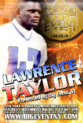 BIG EVENT 15 LAWRENCE TAYLOR AUTOGRAPH FOR WRESTLING ITEMS ONLY